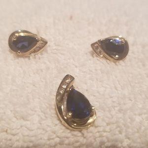 Lab created sapphires